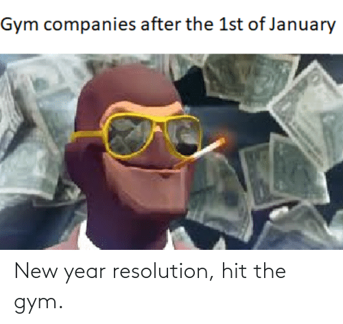 New Year Resolution: Gym companies after the 1st of January New year resolution, hit the gym.