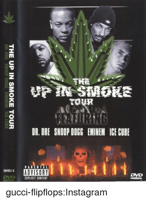 Ice Cube: HA  THE UP IN SMOKE TOUR  DR.DRE SNOOP DOGG EMINEM ICE CUBE gucci-flipflops:Instagram