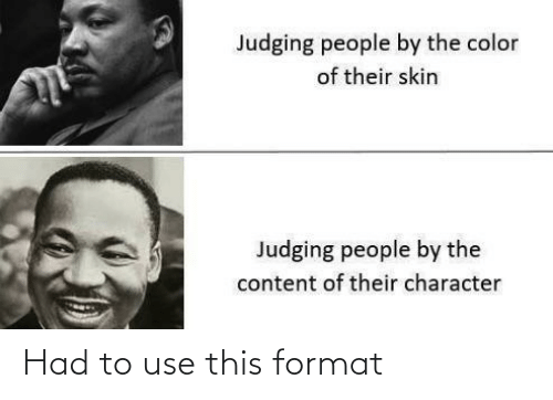 Had To: Had to use this format