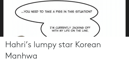 Korean: Hahri's lumpy star Korean Manhwa