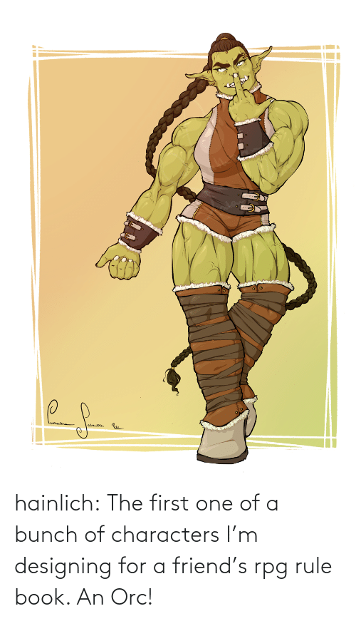 Bunch Of: hainlich:  The first one of a bunch of characters I'm designing for a friend's rpg rule book. An Orc!