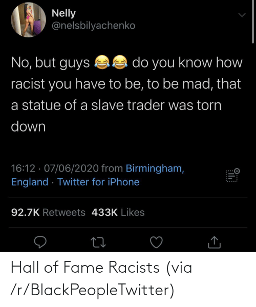 fame: Hall of Fame Racists (via /r/BlackPeopleTwitter)
