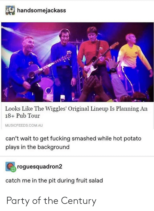 background: handsomejackass  Looks Like The Wiggles' Original Lineup Is Planning An  18+ Pub Tour  MUSICFEEDS.COM.AU  can't wait to get fucking smashed while hot potato  plays in the background  roguesquadron2  catch me in the pit during fruit salad Party of the Century