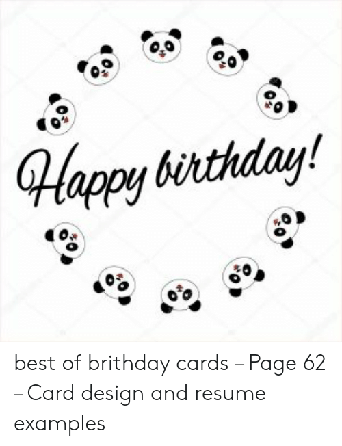 Card Design: Happy birthday! best of brithday cards – Page 62 – Card design and resume examples