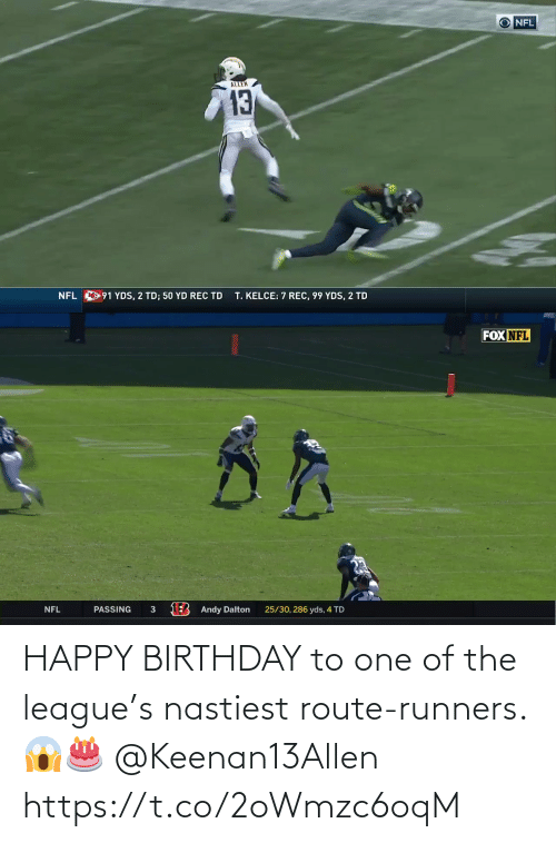 league: HAPPY BIRTHDAY to one of the league's nastiest route-runners. 😱🎂 @Keenan13Allen https://t.co/2oWmzc6oqM