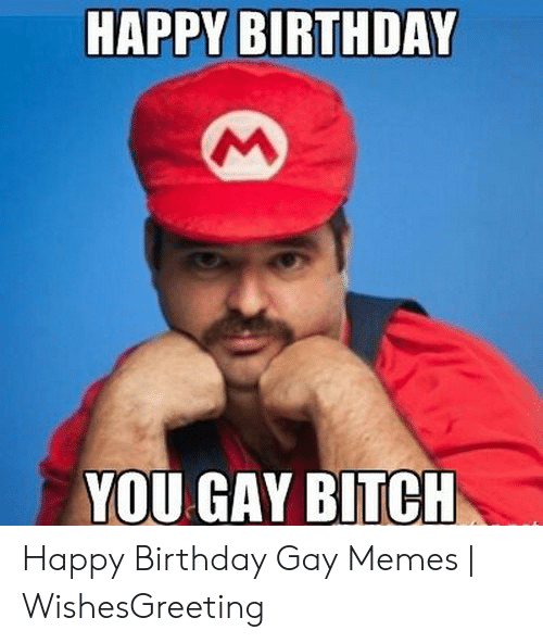 Funny Gay Memes: HAPPY BIRTHDAY  YOU GAY BITCH Happy Birthday Gay Memes | WishesGreeting