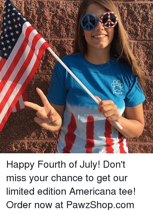 americana: Happy Fourth of July! Don't miss your chance to get our limited edition Americana tee! Order now at PawzShop.com