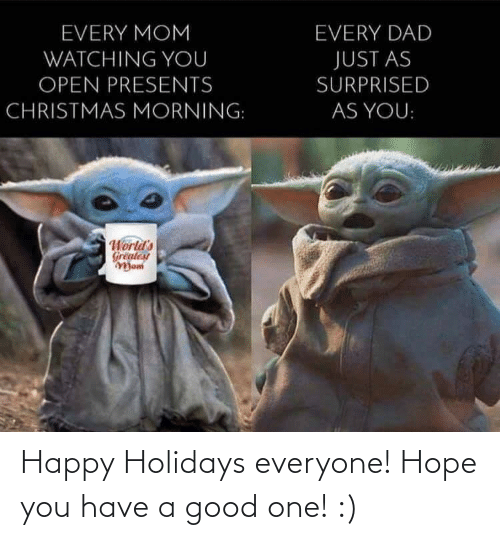happy holidays: Happy Holidays everyone! Hope you have a good one! :)
