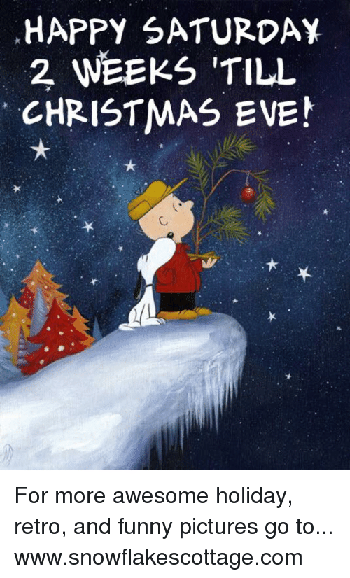 Funnies Pictures: HAPPY SATURDAY  2 WEEKS TILL  CHRISTMAS EVE! For more awesome holiday, retro, and funny pictures go to... www.snowflakescottage.com