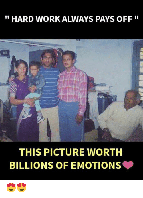 """Billions: """"HARD WORK ALWAYS PAYS OFF""""  THIS PICTURE WORTH  BILLIONS OF EMOTIONS 😍😍"""