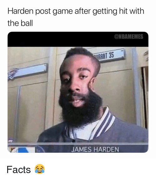 Getting Hit: Harden post game after getting hit with  the ball  ONBAMEMES  RANT 35  JAMES HARDEN Facts 😂