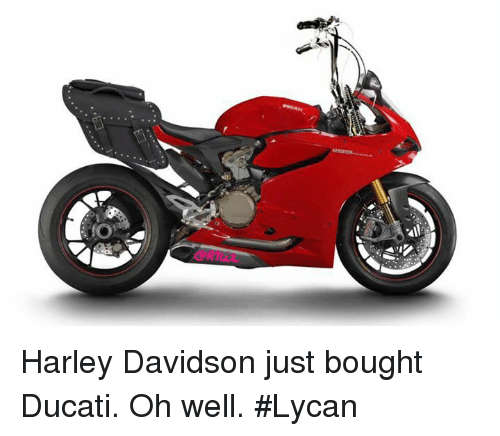 harley davidson just bought ducati oh well lycan meme on