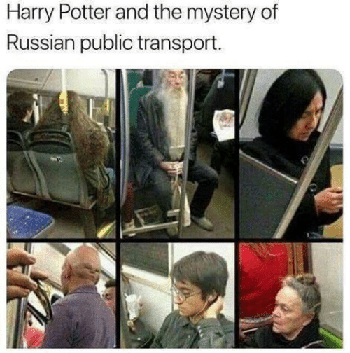 transport: Harry Potter and the mystery of  Russian public transport.