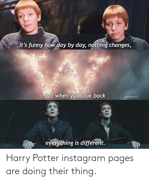 Harry Potter: Harry Potter instagram pages are doing their thing.