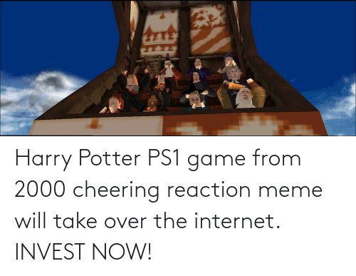 Harry Potter: Harry Potter PS1 game from 2000 cheering reaction meme will take over the internet. INVEST NOW!