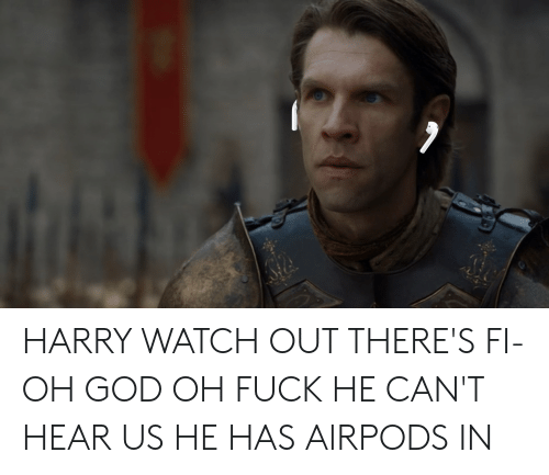 HARRY WATCH OUT THERE'S FI- OH GOD OH FUCK HE CAN'T HEAR US