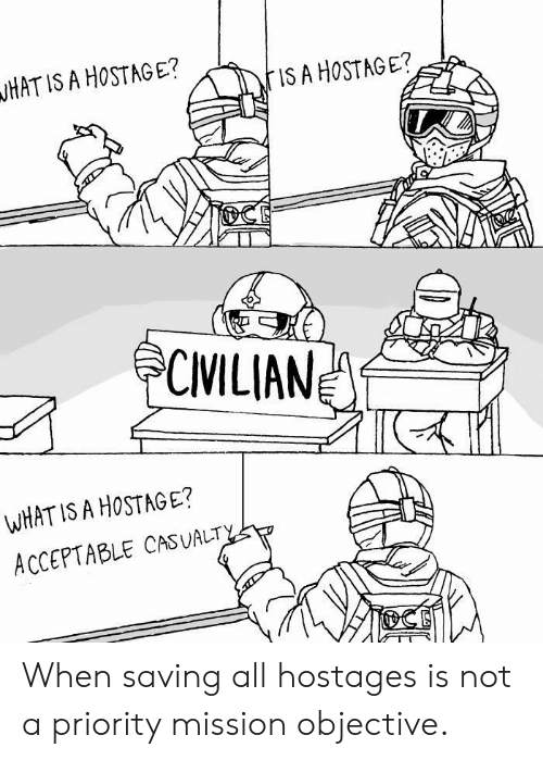 What Is, What Is A, and All: HAT IS A HOSTAGE?  IS A HOSTAGE?  CMILIAN  WHAT IS A HoSTAGE?  ACCEPTABLE CASUALT When saving all hostages is not a priority mission objective.