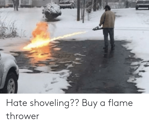 flame: Hate shoveling?? Buy a flame thrower