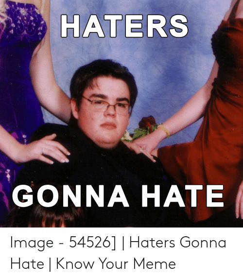 Haters Meme: HATERS  GONNA HATE Image - 54526]   Haters Gonna Hate   Know Your Meme