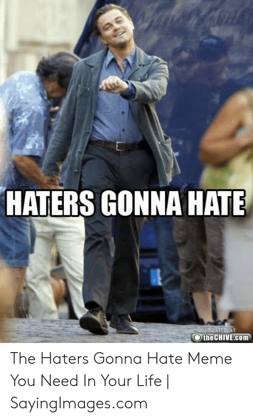haters gonna hate meme: HATERS GONNA HATE  the CHIVE.com The Haters Gonna Hate Meme You Need In Your Life | SayingImages.com