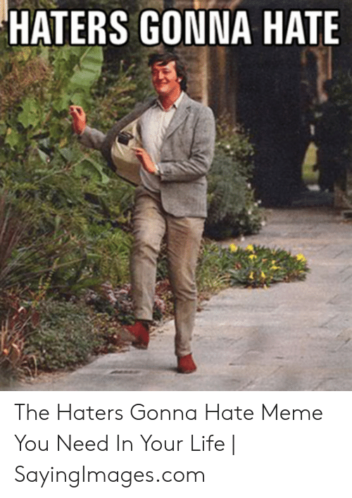 haters gonna hate meme: HATERS GONNA HATE The Haters Gonna Hate Meme You Need In Your Life | SayingImages.com
