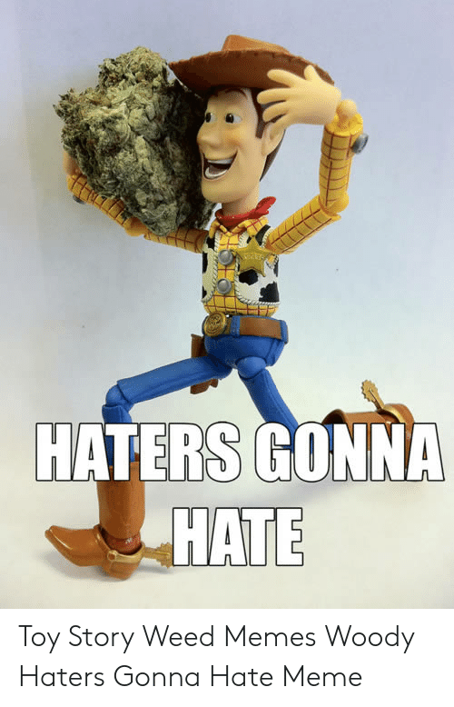 haters gonna hate meme: HATERS GONNA  HATE Toy Story Weed Memes Woody Haters Gonna Hate Meme