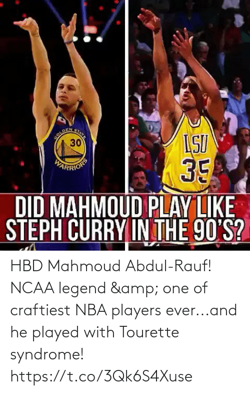 players: HBD Mahmoud Abdul-Rauf! NCAA legend & one of craftiest NBA players ever...and he played with Tourette syndrome!  https://t.co/3Qk6S4Xuse