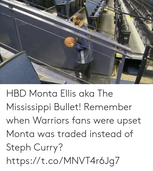 Warriors: HBD Monta Ellis aka The Mississippi Bullet!  Remember when Warriors fans were upset Monta was traded instead of Steph Curry? https://t.co/MNVT4r6Jg7
