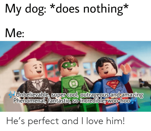 I Love: He's perfect and I love him!