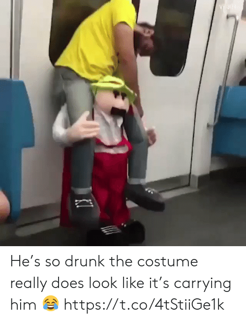 carrying: He's so drunk the costume really does look like it's carrying him 😂 https://t.co/4tStiiGe1k