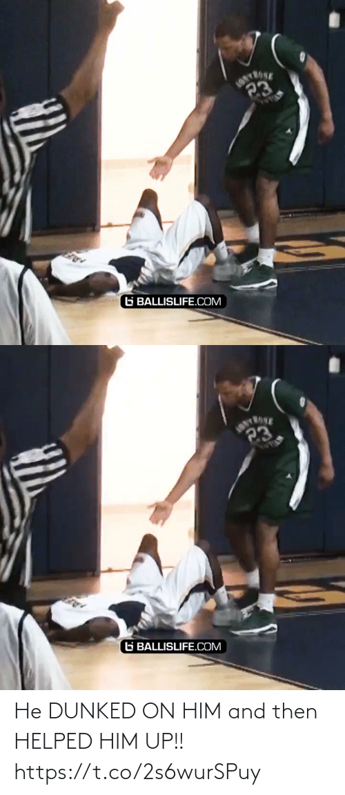 then: He DUNKED ON HIM and then HELPED HIM UP!! https://t.co/2s6wurSPuy