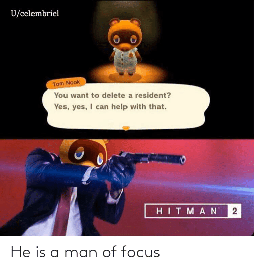 Focus: He is a man of focus