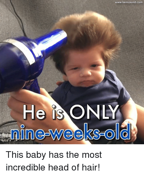 Baby, It's Cold Outside: He IS  O  www.bensound com This baby has the most incredible head of hair!