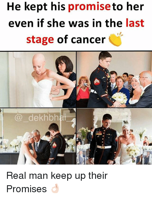 Cancer, Dekh Bhai, and International: He kept his promiseto her  even if she was in the last  stage of cancer  @ dekhbha  iit Real man keep up their Promises 👌🏻