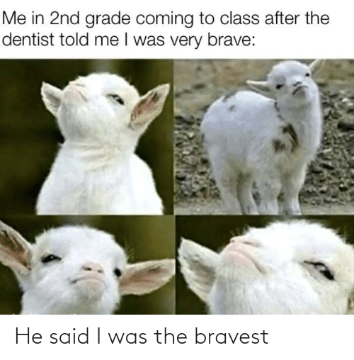 I Was The: He said I was the bravest