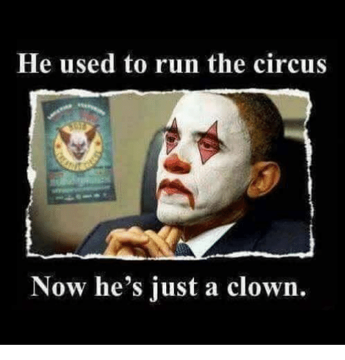 the circus: He used to run the circus  Now he's just a clown.