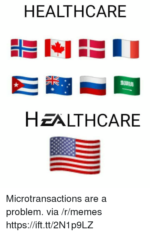 Microtransactions: HEALTHCARE  HZALTHCARE Microtransactions are a problem. via /r/memes https://ift.tt/2N1p9LZ