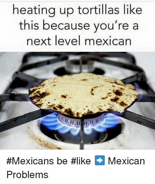 Mexican Be Like: heating up tortillas like  this because you're a  next level mexican #Mexicans be #like ➡ Mexican Problems