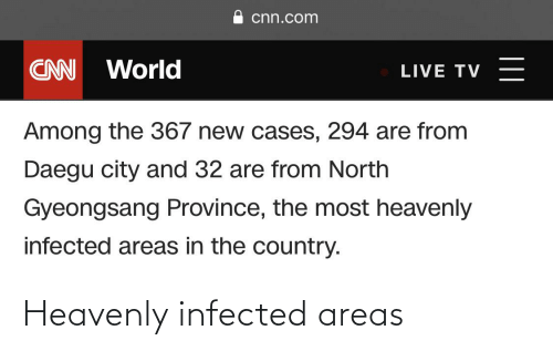heavenly: Heavenly infected areas
