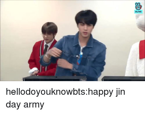 Tumblr, Army, and Blog: hellodoyouknowbts:happy jin day army