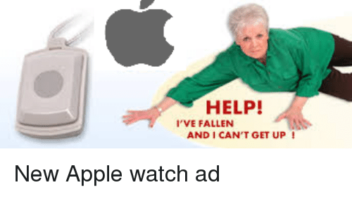 help i ve fallen and i can t get up new apple watch ad apple