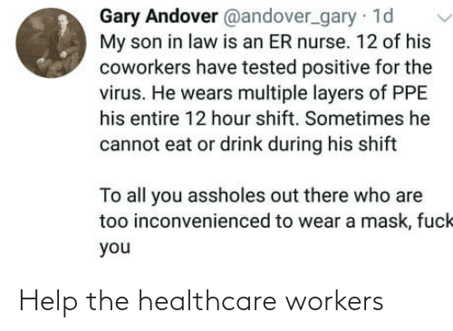 Workers: Help the healthcare workers