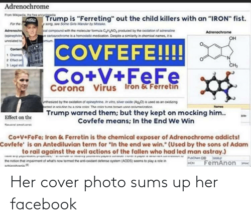 cover photo: Her cover photo sums up her facebook