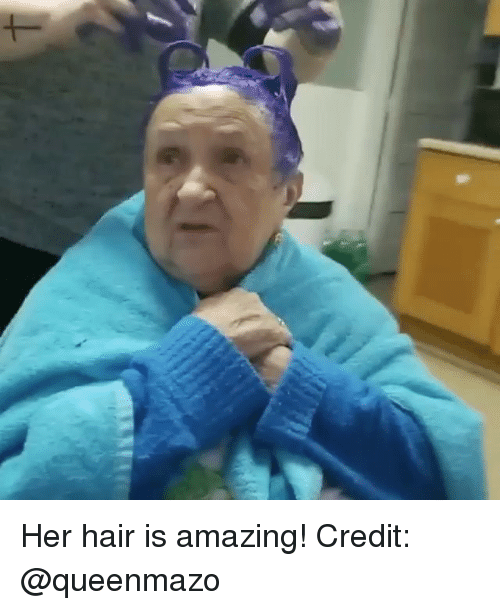 Memes, Hair, and Amazing: Her hair is amazing! Credit: @queenmazo