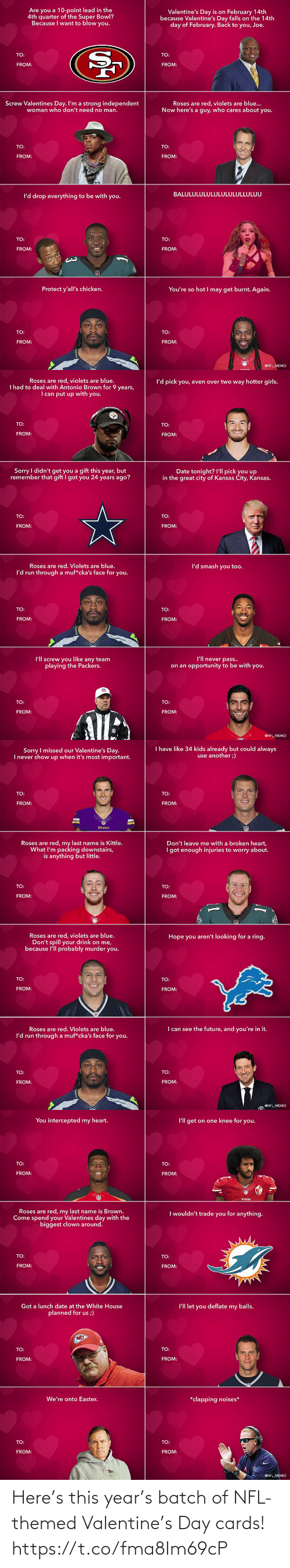 Themed: Here's this year's batch of NFL-themed Valentine's Day cards! https://t.co/fma8Im69cP