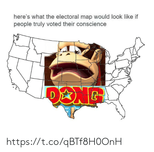 Electoral: here's what the electoral map would look like if  people truly voted their conscience https://t.co/qBTf8H0OnH