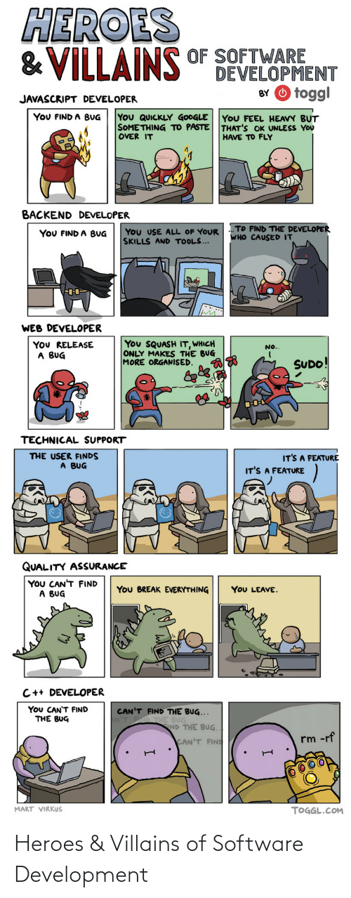 software development: Heroes & Villains of Software Development