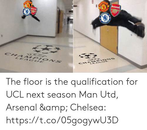 ucl: HES  Arsenal  ELSE The floor is the qualification for UCL next season  Man Utd, Arsenal & Chelsea: https://t.co/05gogywU3D