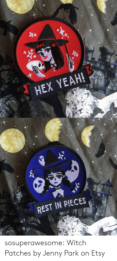 Jenny: HEX YEAH!   REST IN PIECES sosuperawesome: Witch Patches by Jenny Park on Etsy