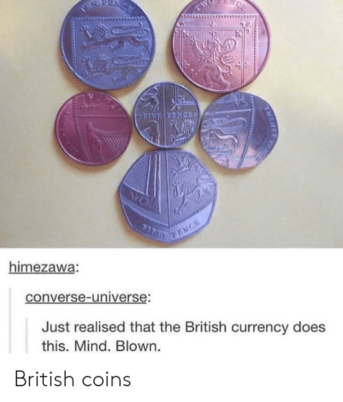 Converse: himezawa:  converse-universe  Just realised that the British currency does  this. Mind. Blown British coins